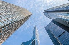 Moderne Geschäftsgebäudemitte in Hong Kong Lizenzfreie Stockbilder