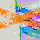 Moderne geschilderde kunstachtergrond voor ontwerp of verpakkingsgroeten Royalty-vrije Stock Foto's