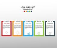 Moderne Gestaltungselemente für Geschäft Mehrfarben-infographics Vec stock abbildung
