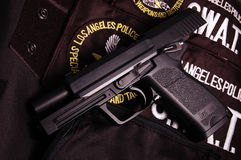 Moderne Gewehr - Pistole USP Stockfotos