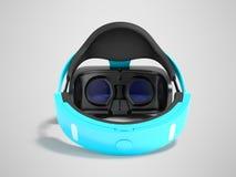 Moderne Gläser der virtuellen Realität für Computerspiele blaues 3d übertragen Stockbilder