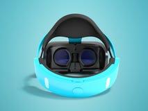Moderne Gläser der virtuellen Realität für Computerspiele blaues 3d übertragen Stockbild
