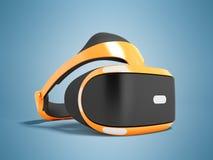 Moderne Gläser der virtuellen Realität für das orange Präfix 3d übertragen O Stockbild
