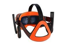 Moderne Gläser der virtuellen Realität mit Kopfhörern für 3d klingen mit Stockfoto