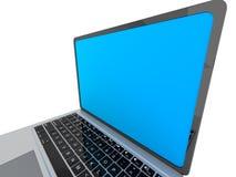 Moderne glanzende laptop op wit Stock Afbeeldingen
