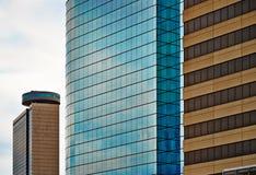 Moderne Glasarchitectuur in Kansas City - Flatgebouw met koopflatsflats Stock Afbeeldingen