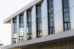 Moderne Glasgebäudearchitektur-Fensterdetails Lizenzfreie Stockfotos