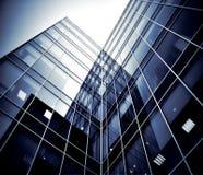 Moderne glassilhouetten van wolkenkrabbers Stock Fotografie