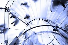Moderne Glastrap royalty-vrije stock afbeelding