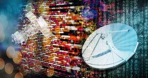 Moderne globale Telekommunikation lizenzfreies stockbild