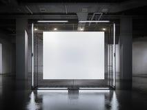 Moderne gloeiende showcase met kader het 3d teruggeven Royalty-vrije Stock Foto's