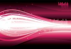 Moderne golven purpere illustratie Royalty-vrije Stock Afbeelding