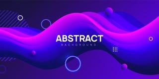 Moderne golvende abstracte achtergrond, vloeibare vectorillustratie vector illustratie