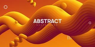 Moderne golvende abstracte achtergrond, vloeibare vectorillustratie royalty-vrije illustratie