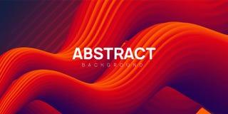 Moderne golvende abstracte achtergrond, vloeibare vectorillustratie stock illustratie
