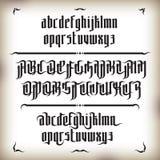 Moderne Gotische Doopvont vector illustratie