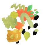 Moderne Gouachecollage Zusammensetzung mit Pinselstrichen und Abstrichen der Farbe Modische neutrale Farbpalette stock abbildung