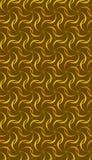 Moderne gouden bruine naadloze geometrische patroontegel van met elkaar verbindende cirkels en krommen royalty-vrije illustratie
