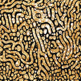 Moderne gouden naadloze patronen stock illustratie
