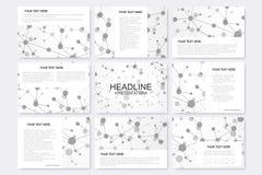 Moderne grafische achtergrondmoleculestructuur en mededeling Stock Illustratie