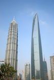 Moderne Grenzsteine von Shanghai Stockfotos