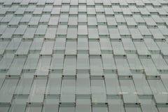 Moderne grijze glasvoorgevel stock foto