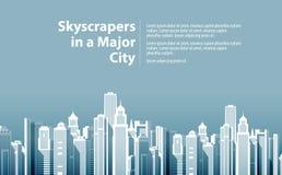Moderne Grote Stad Vector illustratie Royalty-vrije Stock Afbeeldingen