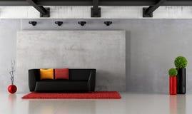 Moderne grungewoonkamer Stock Afbeeldingen