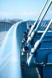 Moderne Hängebrücke Stockbild