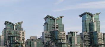 Moderne Häuser Stockfotografie