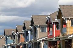Moderne Häuser Stockfoto