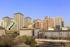 Moderne Häuser nahe der alten Stadt Xian Lizenzfreie Stockfotos