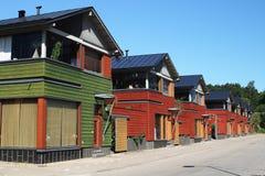 Moderne Häuser in Porvoo Lizenzfreies Stockfoto