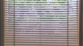 Moderne hölzerne Vorhänge für Haus und Büro - alter Blick der Weinlese Stockfotografie