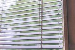 Moderne hölzerne Vorhänge für Haus und Büro - alter Blick der Weinlese Lizenzfreie Stockfotos