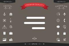 Moderne Hamburgermenüikone für bewegliche apps und Website Lizenzfreies Stockfoto