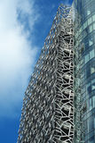 Moderne Handelsarchitektur-Stahl-Support Stockfoto
