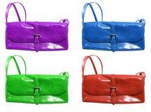 Moderne Handtasche in der unterschiedlichen Farbe Stockfoto