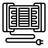 Moderne Hauptheizungsikone, Entwurfsart lizenzfreie abbildung