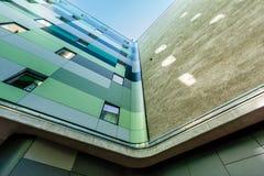 Moderne Haus-Fassade in der historischen Mitte von Berlin Stockfotografie