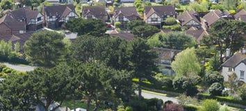 Moderne Haus-Luftschuß der Wohnung lizenzfreie stockbilder