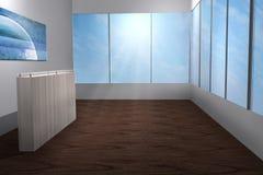 Moderne helle Illustration 3d des Raumfenster-Himmels wunderbar vektor abbildung