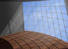 Moderne helle Illustration 3d des Raumfenster-Himmels wunderbar lizenzfreie abbildung