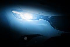 Moderne het close-upachtergrond van de luxeauto Stock Afbeeldingen