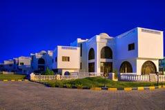 Moderne het hotelarchitectuur van Egypte stock foto's