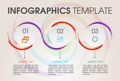 Moderne het malplaatjevector van infographicsopties met cirkel en colo Stock Afbeelding