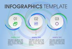 Moderne het malplaatjevector van infographicsopties met cirkel en colo Stock Afbeeldingen
