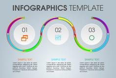 Moderne het malplaatjevector van infographicsopties met cirkel en colo Stock Fotografie