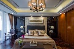 Moderne het ontwerpdecoratie van het luxe binnenlandse huis Stock Foto