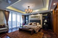 Moderne het ontwerpdecoratie van het luxe binnenlandse huis Stock Foto's